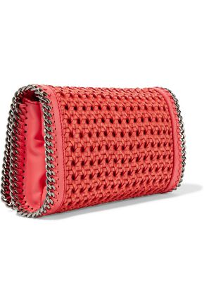 STELLA McCARTNEY Cotton-raffia and faux leather shoulder bag