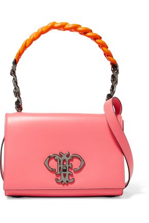 EMILIO PUCCI Chain-trimmed leather shoulder bag