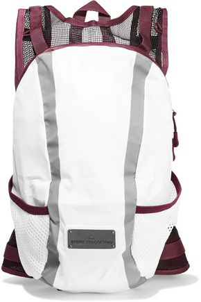 ADIDAS by STELLA McCARTNEY Mesh-paneled shell backpack
