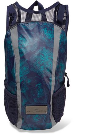 ADIDAS by STELLA McCARTNEY Run mesh-paneled printed shell backpack