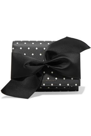 VICTORIA BECKHAM Bow-embellished suede clutch