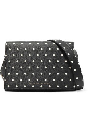 VICTORIA BECKHAM Polka-dot textured-leather shoulder bag