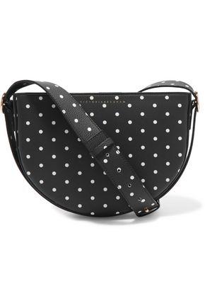VICTORIA BECKHAM Baby Half Moon leopard-print calf hair shoulder bag