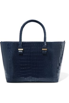 VICTORIA BECKHAM Quincy croc-effect leather tote