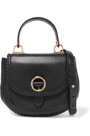 MICHAEL MICHAEL KORS The Messenger whipstitched textured-leather shoulder bag