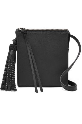 ELIZABETH AND JAMES Sara stud-embellished textured-leather shoulder bag