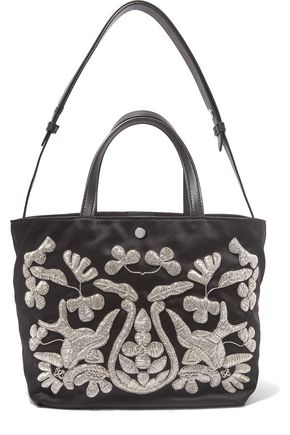 ELIZABETH AND JAMES Eloise embroidered satin tote
