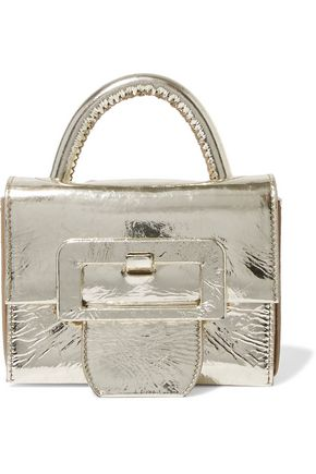 MAISON MARGIELA Mini metallic leather shoulder bag