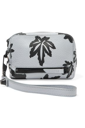 ALEXANDER WANG Printed textured-leather clutch
