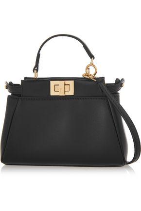 FENDI Peekaboo micro leather shoulder bag