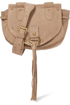 SEE BY CHLOÉ Collins tasseled suede and leather shoulder bag