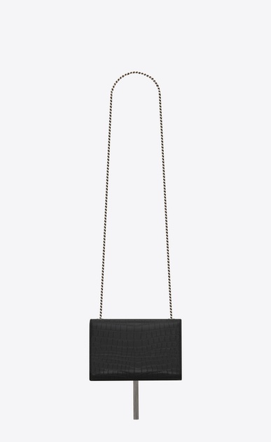 SAINT LAURENT MONOGRAM KATE WITH TASSEL Woman kate small with tassel in crocodile embossed leather b_V4