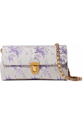 PRADA Floral-jacquard satin shoulder bag