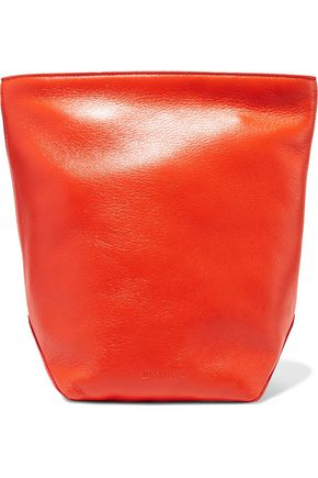 JIL SANDER Textured-leather clutch