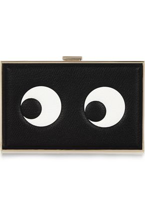 ANYA HINDMARCH Embossed textured-leather clutch