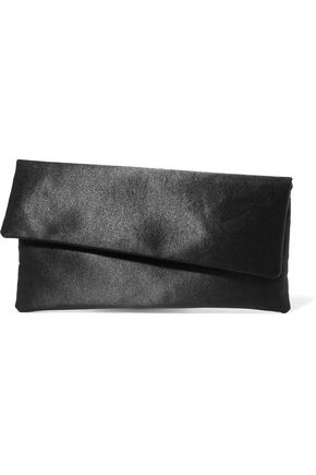 IRIS AND INK Miranda satin clutch