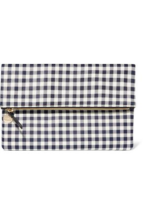 MASTER&MUSE x CLARE V. Supreme gingham leather clutch