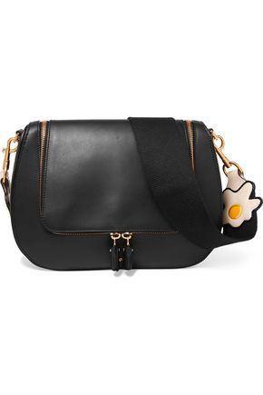 ANYA HINDMARCH Vere canvas-trimmed leather shoulder bag