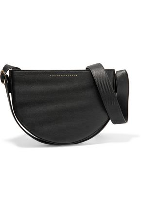 VICTORIA BECKHAM Baby Half Moon textured-leather shoulder bag