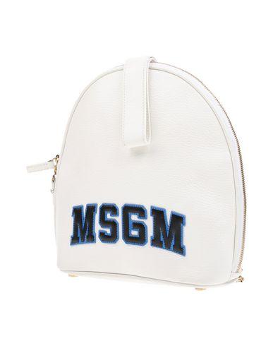 MSGM レディース バックパック&ヒップバッグ ホワイト 牛革 95% / 金属 5%