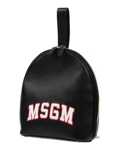 MSGM レディース バックパック&ヒップバッグ ブラック 牛革 95% / 金属 5%