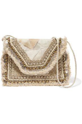 ANTIK BATIK Cabara embellished calf hair and leather shoulder bag