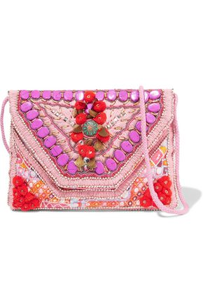 ANTIK BATIK Coza embellished cotton shoulder bag