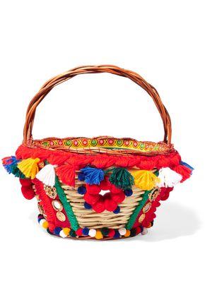 DOLCE & GABBANA Embellished wicker basket