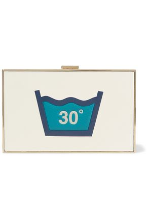 ANYA HINDMARCH Imperial Washing embossed leather box clutch