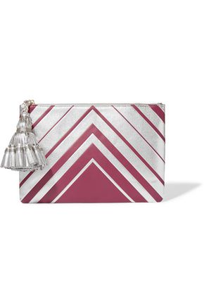 ANYA HINDMARCH Georgiana metallic textured-leather clutch