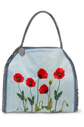 STELLA McCARTNEY Falabella embroidered denim shoulder bag
