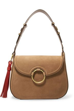 TORY BURCH Tasseled leather shoulder bag