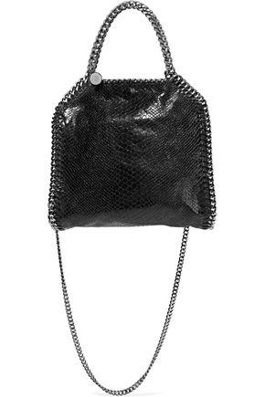 STELLA McCARTNEY Falabella mini croc-effect faux leather shoulder bag