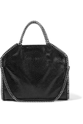 STELLA McCARTNEY Small  snake-effect faux leather tote