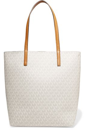 MICHAEL MICHAEL KORS Hayley printed textured-leather tote