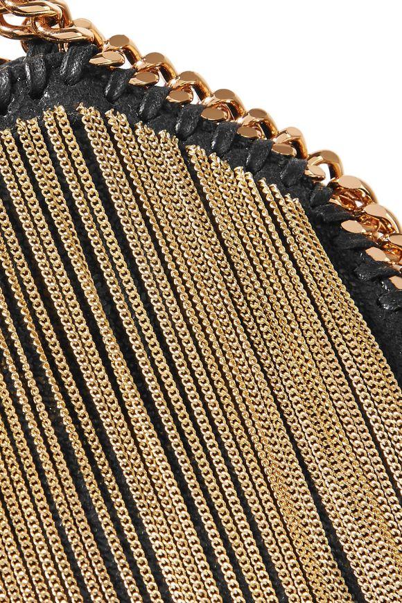 Tiny Falabella fringed faux brushed-leather shoulder bag  7f323faec781e