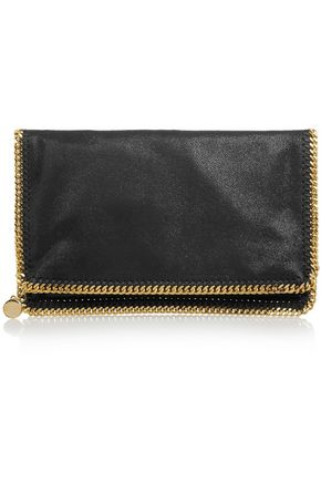 STELLA McCARTNEY The Falabella faux brushed-leather clutch