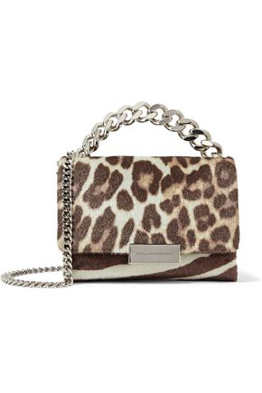 STELLA McCARTNEY Small zebra and leopard-print faux calf hair shoulder bag