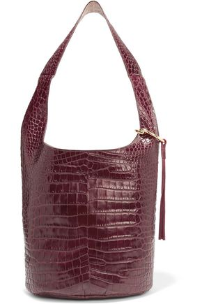 ELIZABETH AND JAMES Finley Courier croc-effect leather shoulder bag