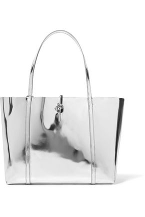 KARA Tie mirrored-leather tote