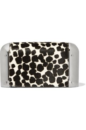 MICHAEL KORS COLLECTION Paneled printed calf hair clutch