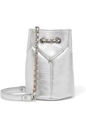 JÉRÔME DREYFUSS Popeye mini metallic textured-leather bucket bag