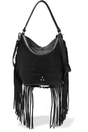 JÉRÔME DREYFUSS Mario fringed leather shoulder bag