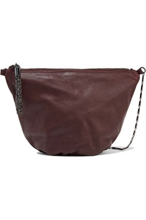 MAJE Gallan textured-leather shoulder bag