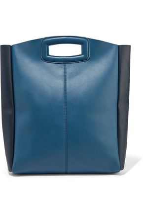 MAJE Two-tone leather shoulder bag