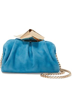 JIMMY CHOO Cara suede shoulder bag