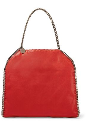 STELLA McCARTNEY Falabella faux brushed-leather shoulder bag
