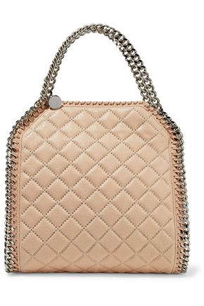 fb577af812c5 STELLA McCARTNEY Embellished quilted chain-trimmed faux-leather tote ...