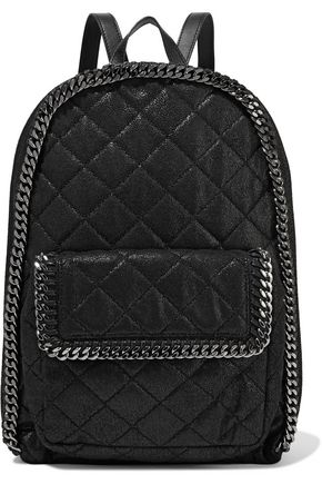 Quilted faux brushed-leather backpack | STELLA McCARTNEY | Sale up ... : quilted faux leather backpack - Adamdwight.com