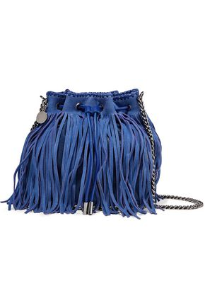 STELLA McCARTNEY Fringed faux suede bucket bag
